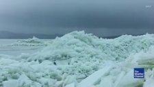 Utah Gölünde Meydana Gelen Buz Tsunamisi
