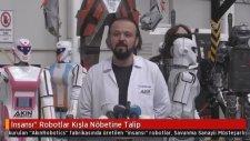 Konya'da Kışla Nöbetleri İçin Yapılan Robot Asker