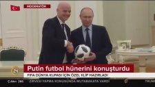 Putin ve Infantino Kremlin Sarayında Futbol Oynadı