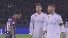 Dani Alves'in Sümüğünü Ronaldo'ya Sürmesi