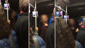 Metrobüste Sevgililer Öpüştü Diye Olay Çıkartan Adam