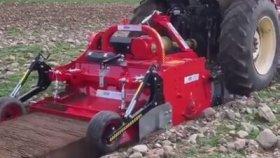 Taşlı Arazileri Tarıma Uygun Hale Getiren Harika Makine