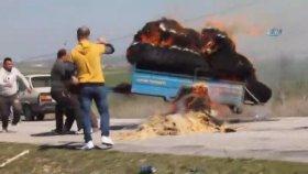 Uşak'ta Trajikomik Yangın Söndürme Mücadelesi