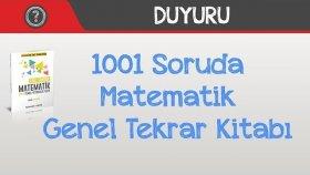 1001 Soruda Matematik Genel Tekrar Kitabı