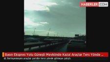 Basın Ekspres Yolu Güneşli Mevkiinde Kaza! Araçlar Ters Yönde Gitmeye Başladı