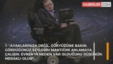 Stephen Hawking'in Tarihe Damga Vuran 10 Sözü