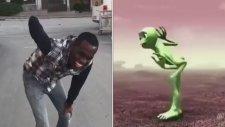 Çorumlu Amir'den Yeşil Uzaylı Dansı