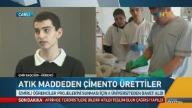 Liseli Gençler Atık Maddeden Çimento Ürettiler