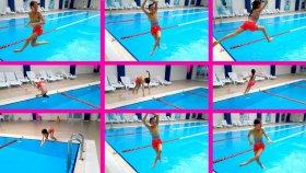 Melikeden Olimpik Havuza Çılgın Atlama Şekilleri !!