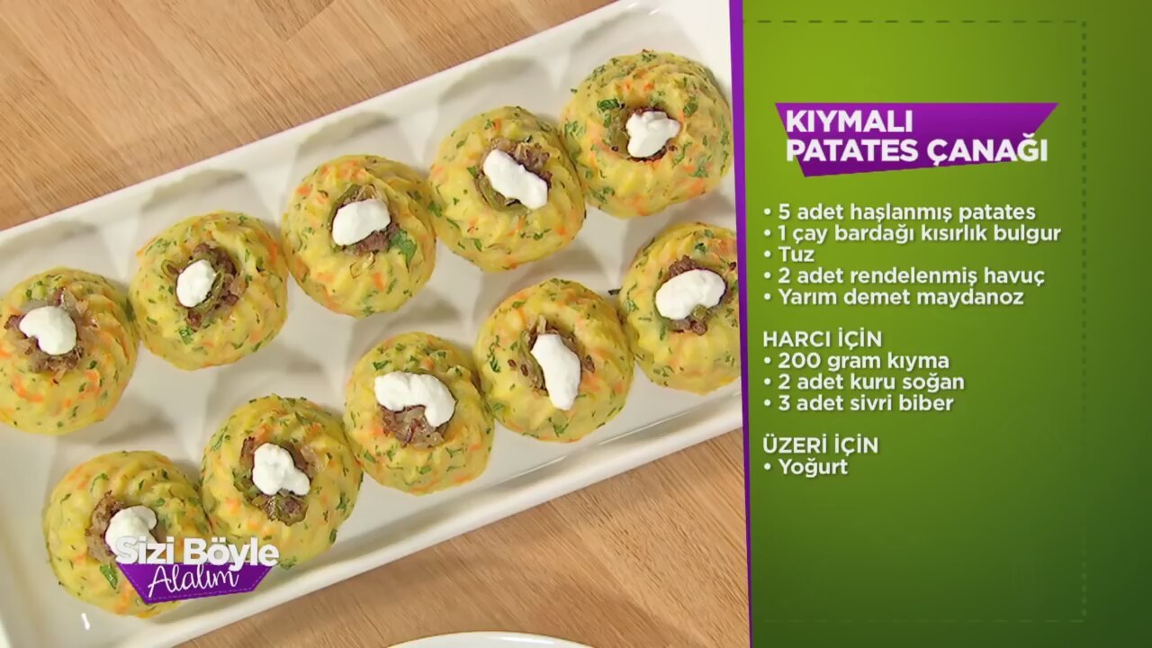 Patates Çanağı Bulgurlu Videosu