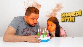 Mumları Sönmeyen Doğum Günü Pastası | Doğum Günü Eğlencesi