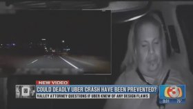 Sürücüsüz Uber Aracının Kaza Görüntüleri