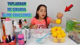 Topların İçinden Ne Çıkarsa Slime Challenge !! Kimin Slime Olmadı?