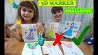 3 Marker Challenge, Barbie Bebekler İle, With Barbie Dol
