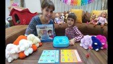 Elifin Tavşancıkları Rengarenk, Üfleme Oyunu Blow Ball Board Game Toys Unboxing
