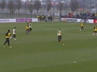 Borussia Dortmund Antrenmanında Kafa Golü Atan Usain Bolt