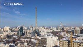 Rusya'da Dev Televizyon Kulesi Yıkıldı
