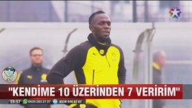Usain Bolt'un Borussia Dortmund ile Antrenmana Çıkması