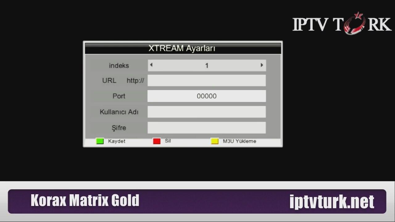 Korax Matrix Gold iptv nasıl yüklenir