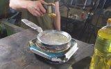 Alüminyum Folyodan Tava Yapıp Yumurta Pişirmek