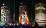 Galata Kulesi'nde Yapılan Video Mapping Gösterisi