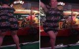 Teknede Çılgınca Dans Eden Kadının Suyun Dibini Boylaması