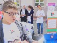 Ortaokul Öğrencisinin Görme Engellilere Bastonu Bıraktıracak Projesi