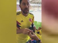 Futbol Maçına Dürbünün İçinde Alkol Sokan Taraftarlar