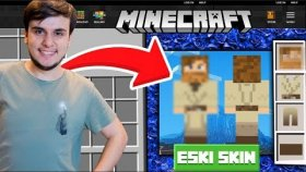 Eski Minecraft Skinimle Oynuyorum