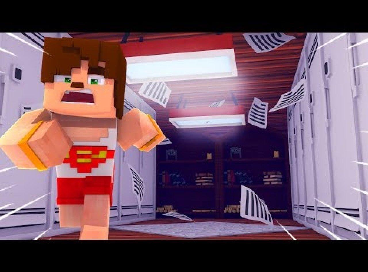 Okulda Bir Gece Geçirmek   Minecraft