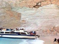 Navagio Plajında Meydana Gelen Toprak Kayması - Yunanistan