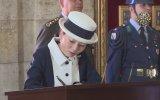 Japonya Prensesi'nin Anıtkabir Özel Defterine Yazısı