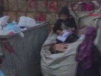 Atık Toplama Aracında Ders Çalışan Çocuk
