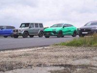 Lamborghini Urus, Tesla Model X, Mercedes-AMG G63 ve Range Rover Sport SVR Kapışması