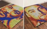 Ünlülerin 700 Rubik Küple Yapılan İnanılmaz Portreleri
