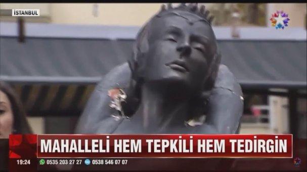Balerin Heykeline Çirkin Saldırı