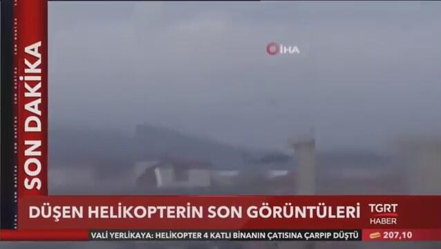 Helikopterin düşme anı kameraya böyle yansıdı