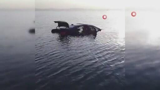 Fren Yerine Gaza Basınca BMW'yi Denize Uçurdu