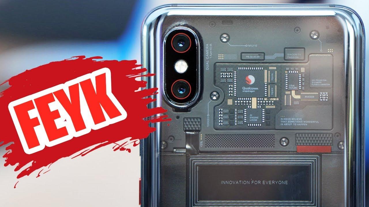 Xiaomi'den 2018'in En Büyük Teşkosu: Transparan Telefon Xiaomi Mi 8 Pro (Nereye El Sallıyo