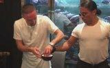 Nusret'in Altın Tozlu Eti Ribery ve Lewandowski'ye Servis Etmesi