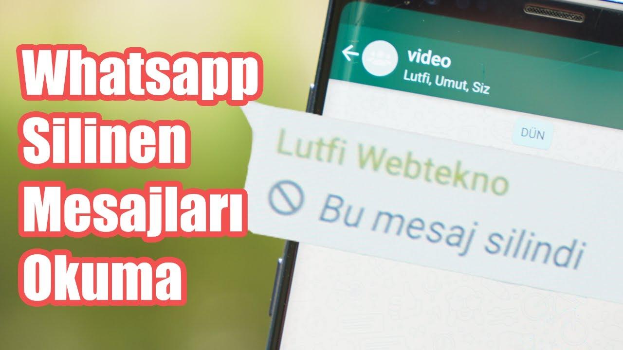 0 Çalışıyor: Whatsapp'ta Herkesten Silinen Mesajları Okumanın Yolu!