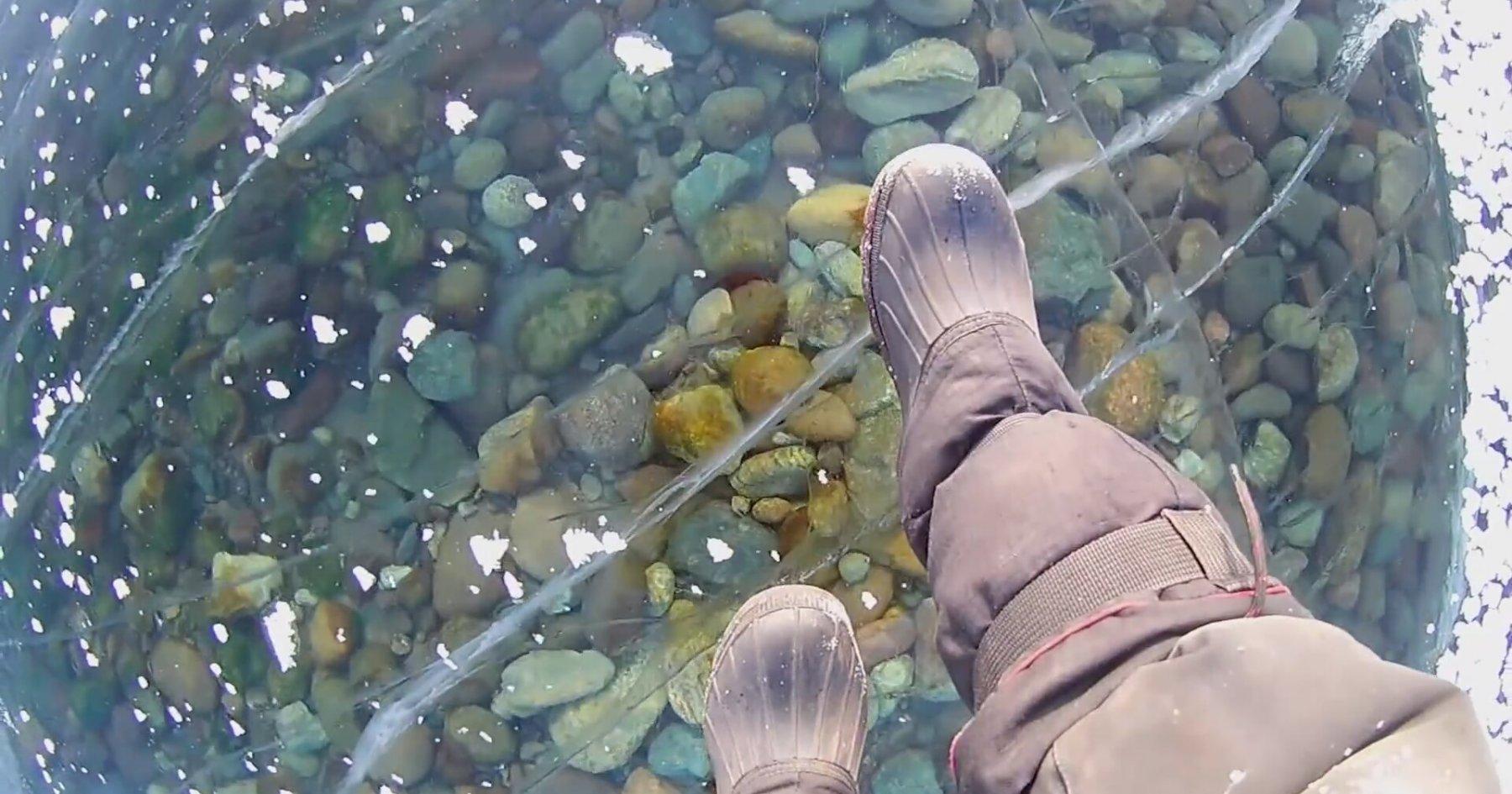 Donmuş Baykal Gölü'nün Göz Alıcı Görüntüleri