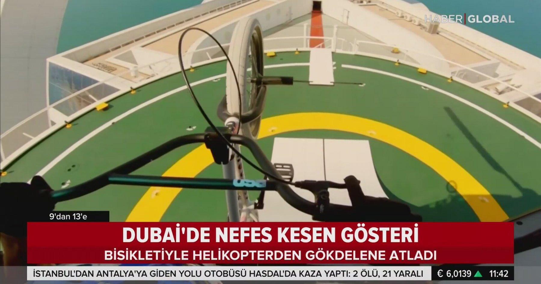 Helikopterden Bisikletle Gökdelene Atlayan Çılgın