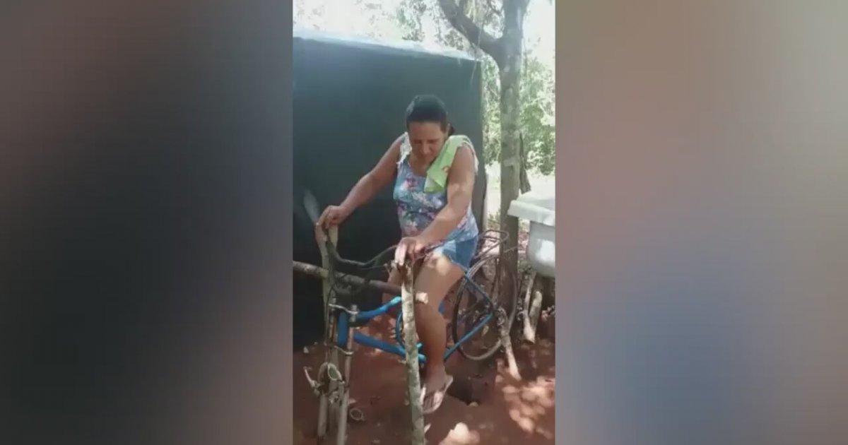 Bisikletle Çalışan Çevre Dostu Çamaşır Makinesi