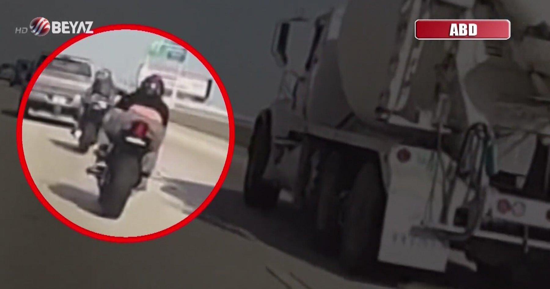 Motosikletlinin Korkunç Kazası