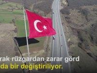 Samsun'da Dev Türk Bayrağının Dalgalanması