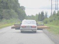Arabayla Kereste Taşıyan Çılgın Rus