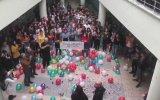 Kanseri Yenen Öğretmene Karşılama  Cemile Yeşil Anadolu Lisesi