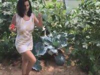 Seradaki Sebzeleri Mundar Eden Kadın