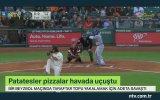 Beyzbol Topu Uğruna Patatesini Pizzasını Feda Eden Taraftar